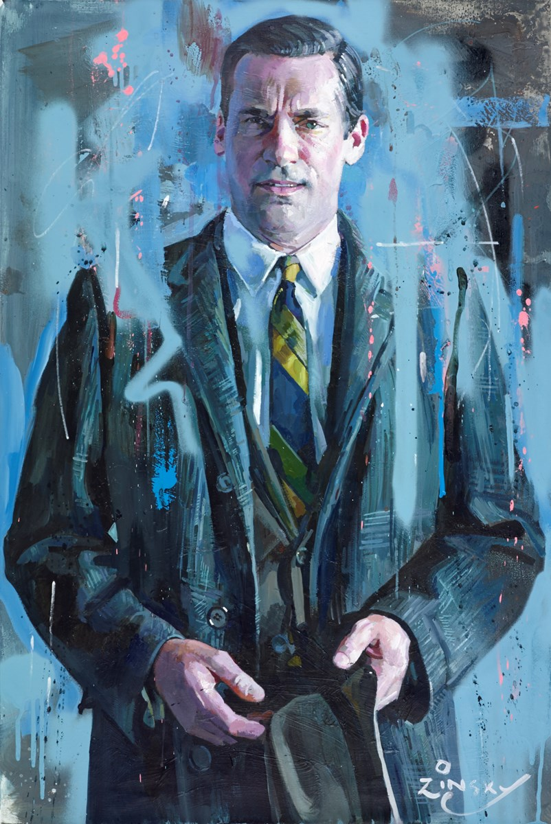 Don Draper by zinsky - Original on Stretch Canvas sized 24x36 inches. Available from Whitewall Galleries